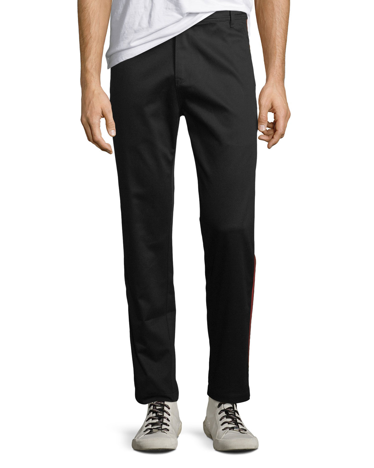 Slim Side-Stripe Pants