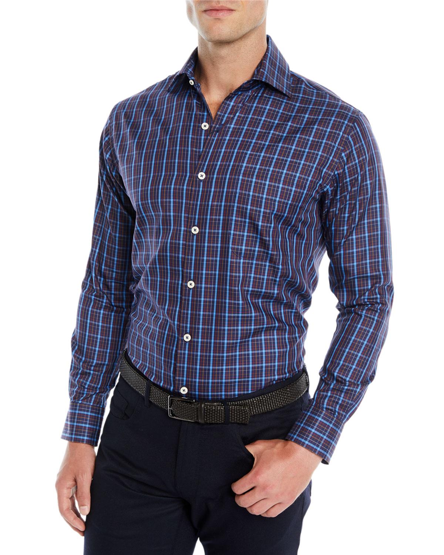 Men's Quarry Falls Plaid Cotton/Silk Sport Shirt