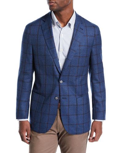 Men's Plaid Wool Soft Jacket