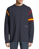 CALVIN KLEIN 205W39NYC Men's Long-Sleeve Rugby T-Shirt