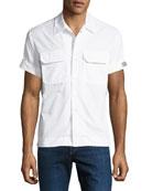CALVIN KLEIN 205W39NYC Men's Button-Front Short-Sleeve Cotton