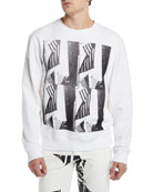 CALVIN KLEIN 205W39NYC Men's Flags Graphic Sweatshirt