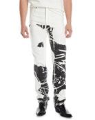 CALVIN KLEIN 205W39NYC Men's Graphic Straight-Leg Jeans