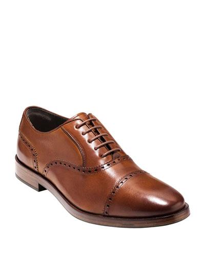 Hamilton Grand Cap-Toe Leather Oxford