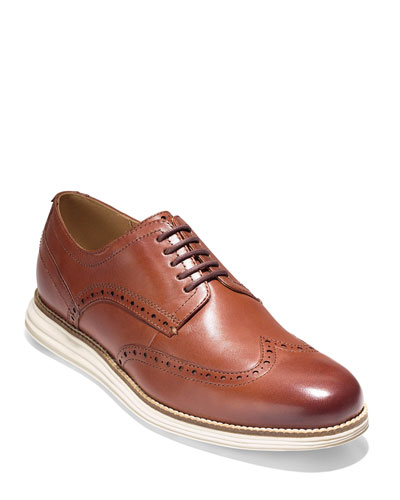 Men's Original Grand Leather Wing-Tip Oxford, Brown