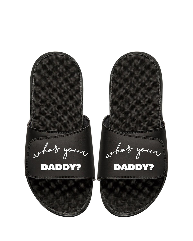 ISLIDE Men'S Who'S Your Daddy Slide Sandal in Black