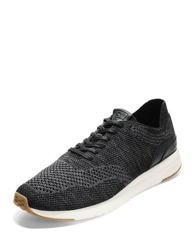 Men's GrandPro Knit Runner Sneakers, Black