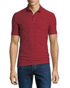 Emporio Armani Men's Jacquard Check Polo Shirt
