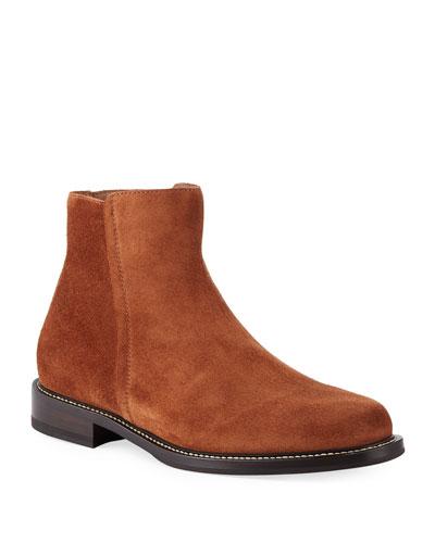 Men's Suede Side-Zip Boots