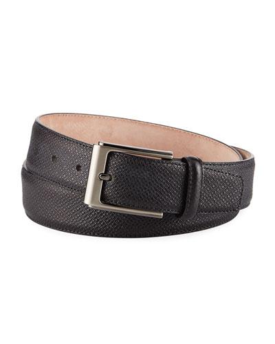 Men's Grabado Leather Belt