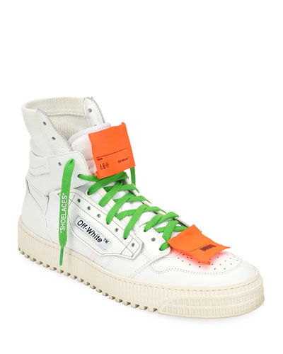 Men's Low 3.0 Leather High-Top Sneakers, White