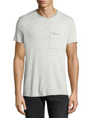 ATM Anthony Thomas Melillo Men's Striped Slub T-Shirt