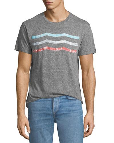 Men's Vintage Waves Graphic T-Shirt