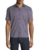 Culturata Men's Graphic-Print Soft Touch Short-Sleeve Sport Shirt