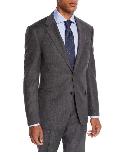 Men's Step-Weave Wool Two-Piece Suit