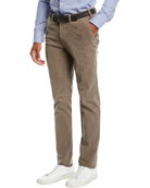 Canali Men's Corduroy Tapered-Leg Pants