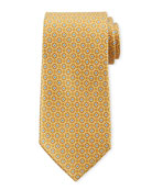 Canali Men's Connected Medallions Silk Tie, Yellow