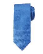 Canali Textured Solid Silk Tie, Light Blue
