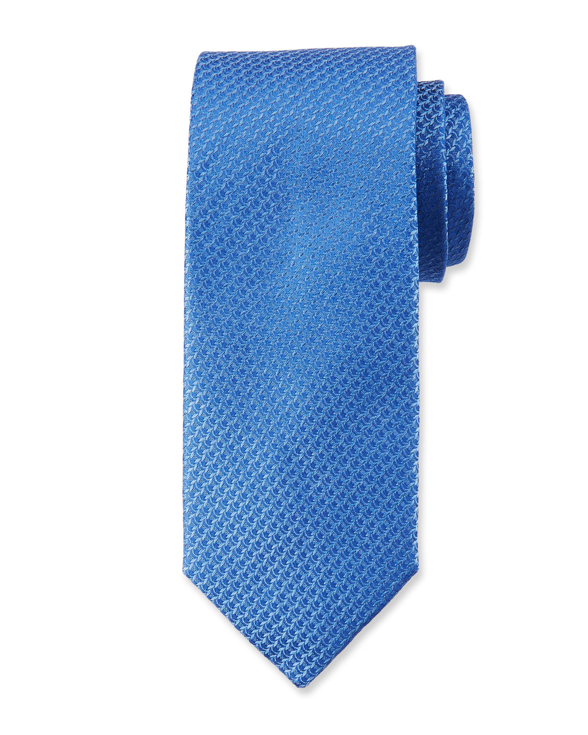Textured Solid Silk Tie, Light Blue