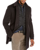 Corneliani Men's Herringbone Top Coat