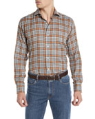 Peter Millar Men's Gamla Melange Plaid Sport Shirt