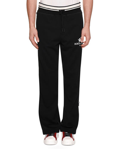Men's Logo Sweatpants w/ Side Zippers