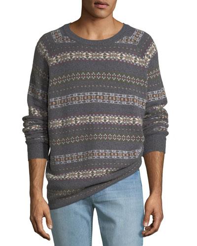 Men's Fair Isle Crewneck Sweater