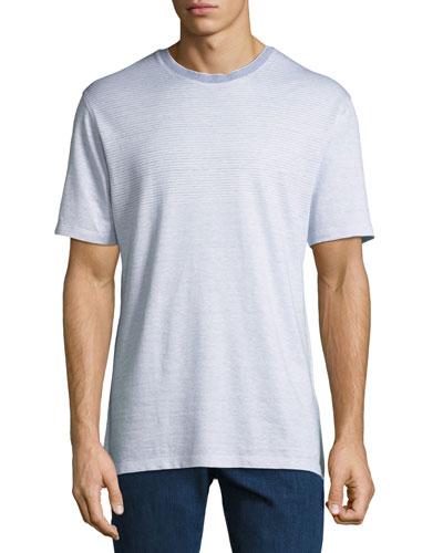 Men's Striped Linen T-Shirt