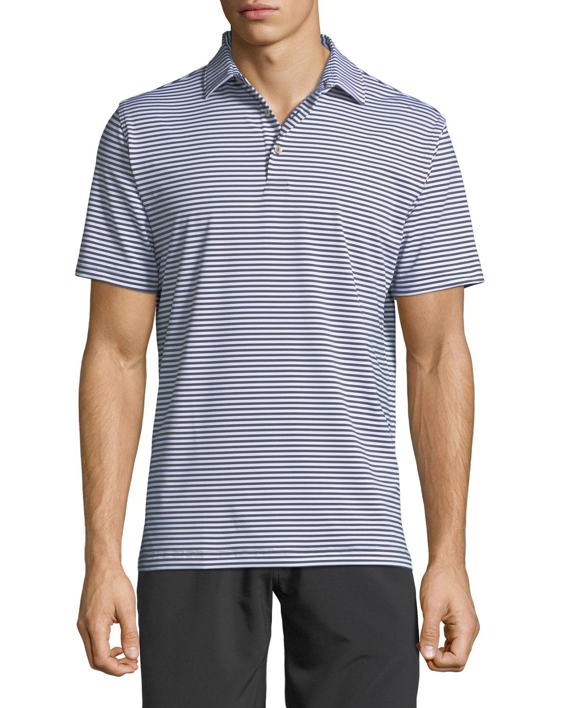 Men's Striped Jersey Polo Shirt