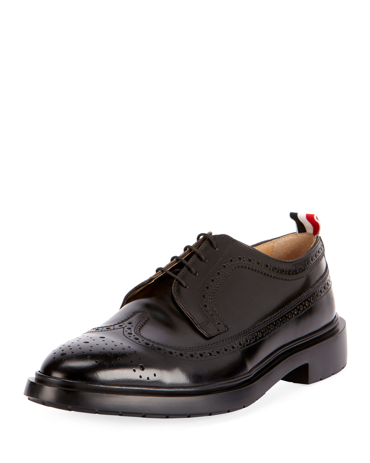 Men's Classic Long Wing-Tip Brogue Oxford Shoes