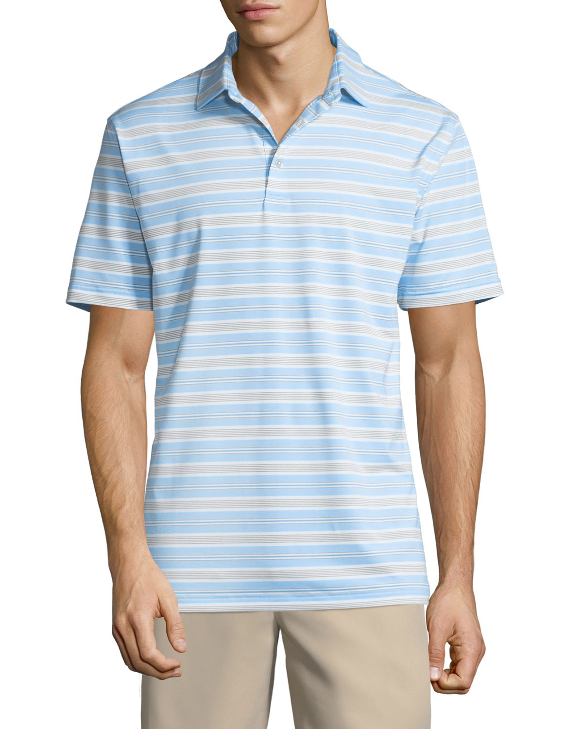 Men's Windel Stripe Jersey Polo Shirt