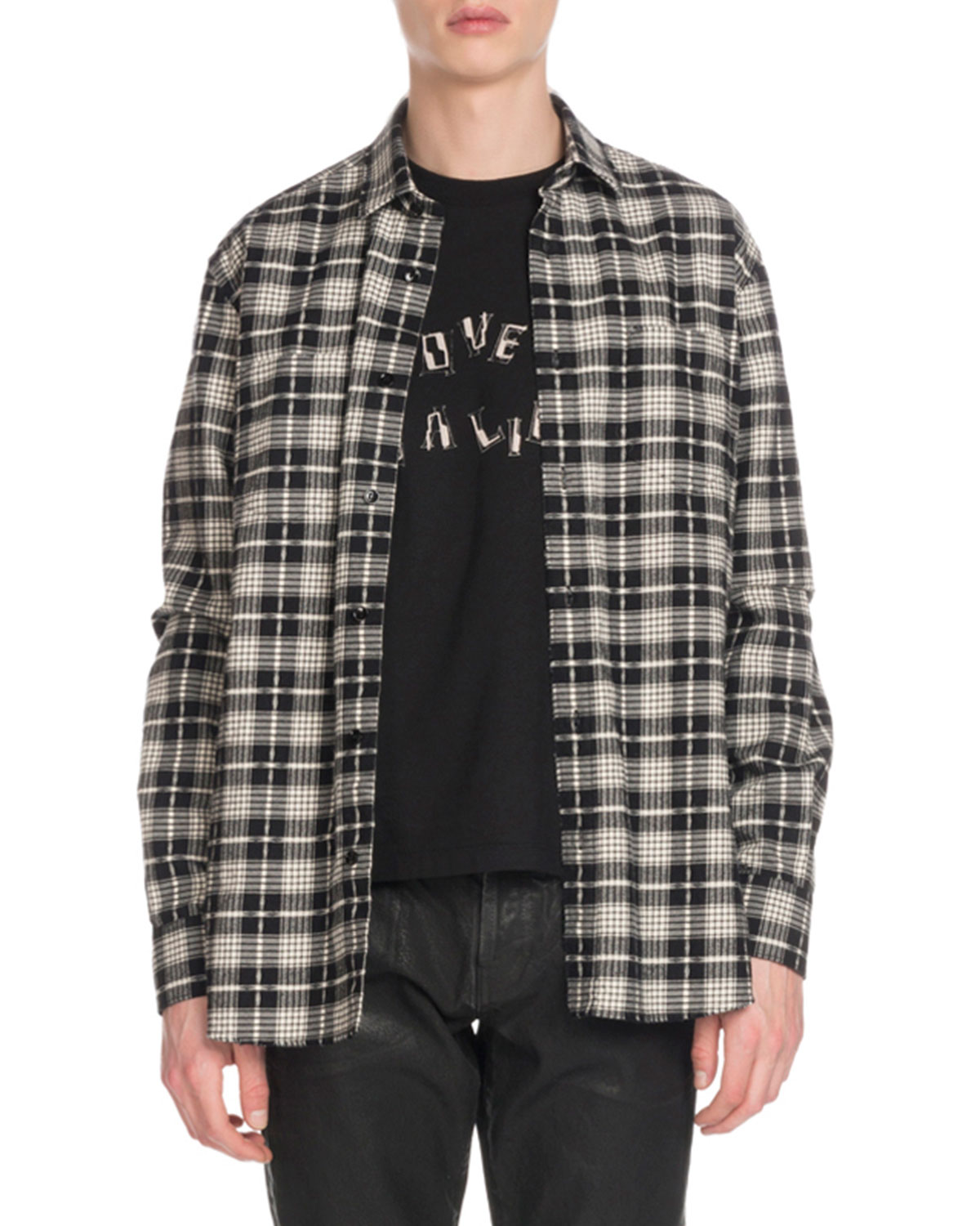 Men's Cotton/Wool Plaid Flannel Shirt
