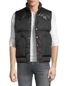 Palm Angels Men's Leather-Trim Down Puffer Vest