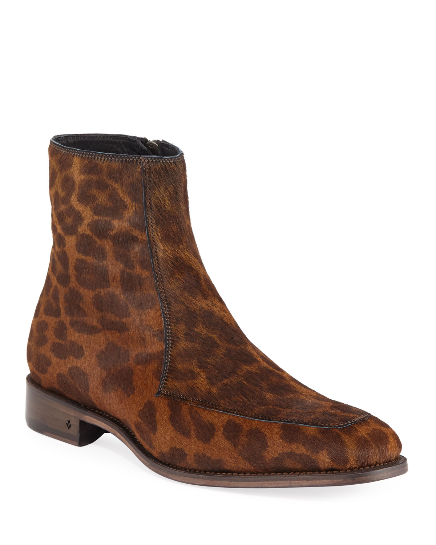 Men's Amsterdam Calf Hair Apron Boots