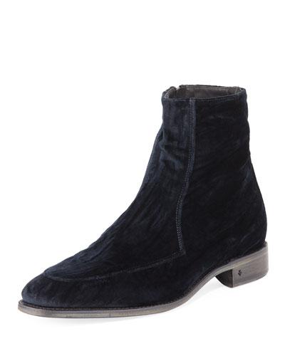 Men's Amsterdam Apron-Toe Velvet Boot
