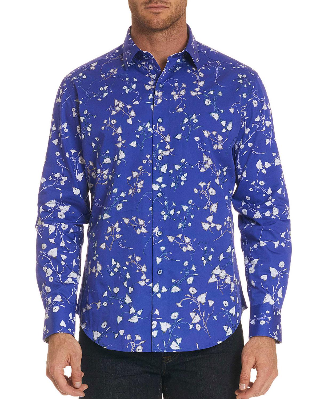 Men's Classic Fit Villa Clara Floral-Print Sport Shirt
