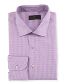 Ike Behar Men's Micro-Check Dress Shirt