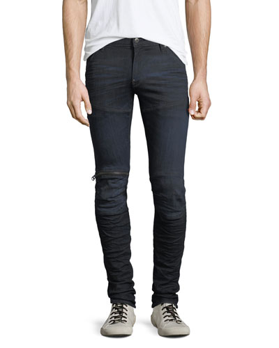 Men's 5620 Knee-Zip Super-Slim Jeans, Blue