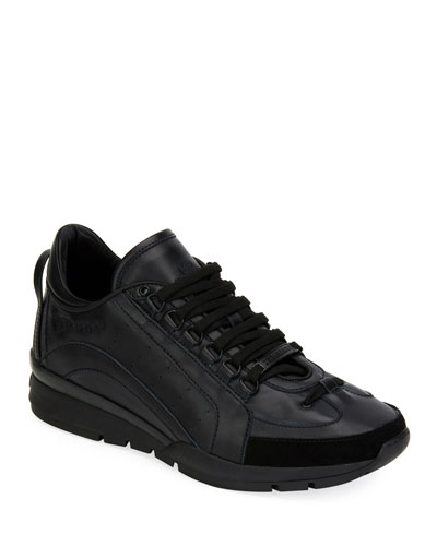 Men's High-Sole Calf Leather Training Sneakers