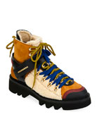 Dsquared2 Men's Faux-Shearling Hiker Boot
