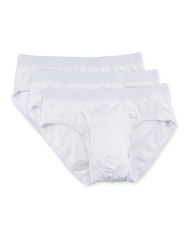Men's 3-Pack Tagless Cotton Stretch Briefs