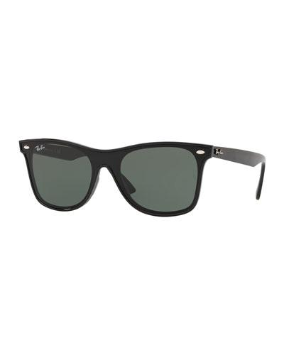 Men's Blaze Wayfarer Lens-Over-Frame Square Sunglasses