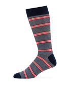 Neiman Marcus Men's Quad Stripe Socks