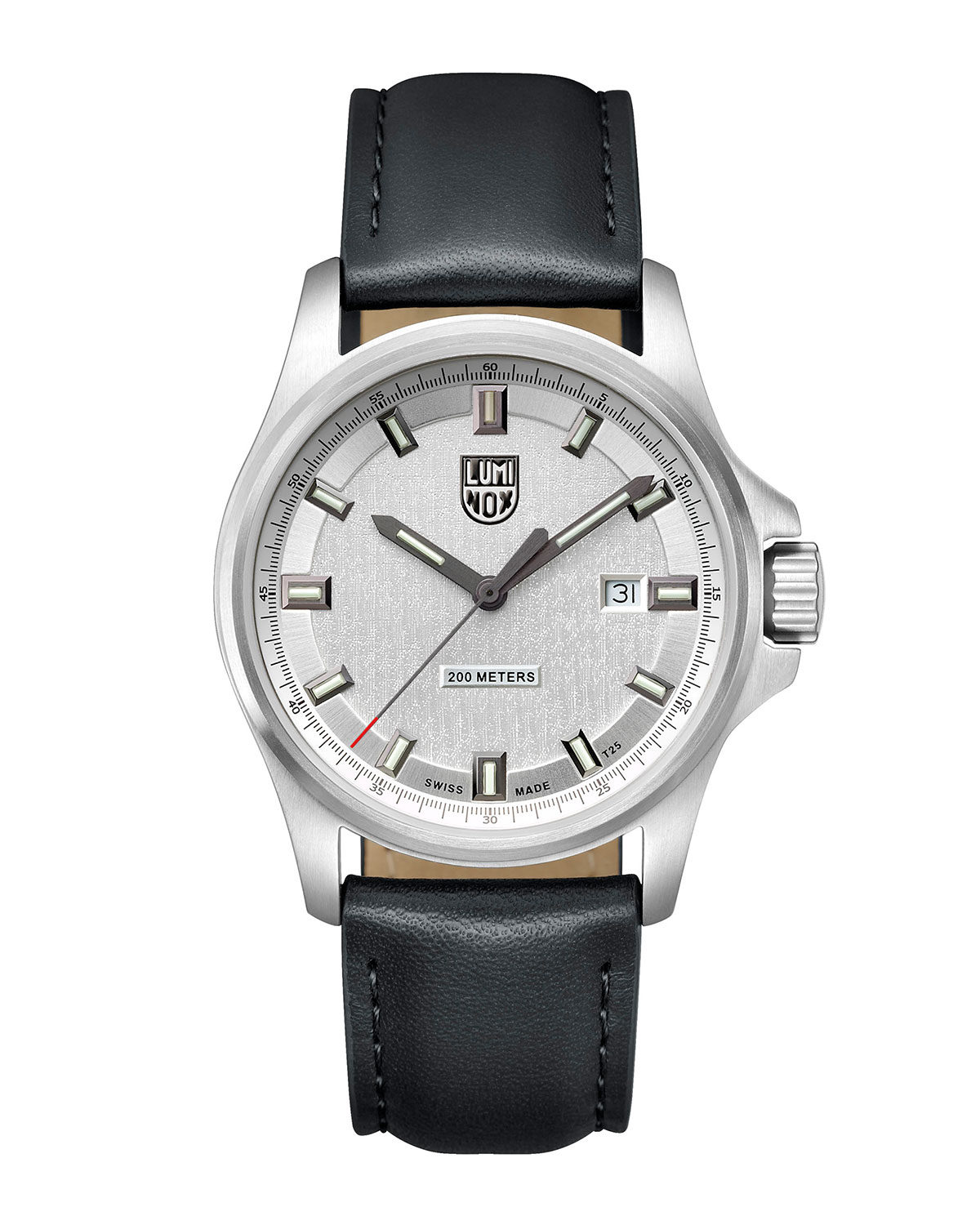 Men's Dress Field Watch with Leather Strap