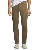 Neiman Marcus Men's Twill Slim Cargo Pants