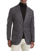 Neiman Marcus Men's Windowpane 2-Button Jacket
