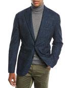 Neiman Marcus Men's Houndstooth 3-Button Sport Jacket