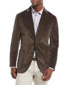 Neiman Marcus Men's Corduroy 3-Button Jacket