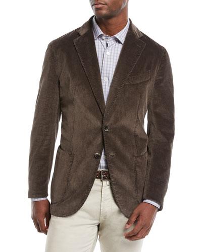 Men's Corduroy 3-Button Jacket
