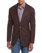 Neiman Marcus Men's Herringbone Two-Button Wool Jacket